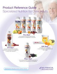 Product Reference Guide - Medical Nutrition USA, Inc.