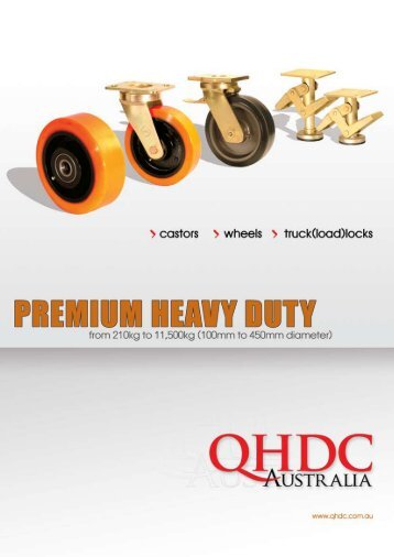 premium heavy duty castors download our catalogue - Industrial ...