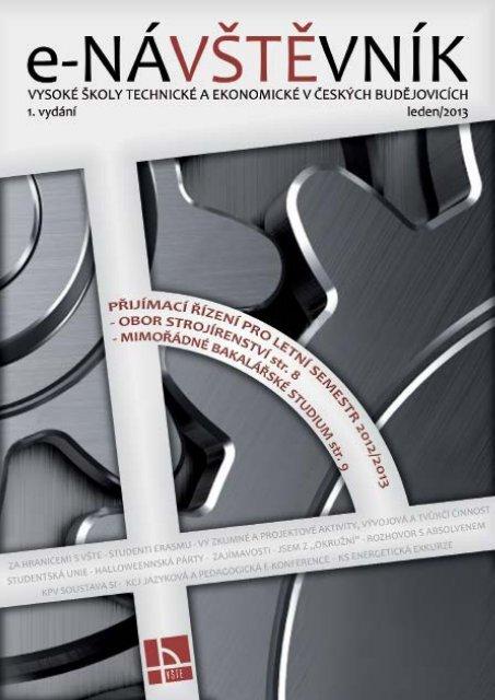 Časopis e-NÁVŠTĚVNÍK 1 - 2013 - Vysoká škola technická a ...