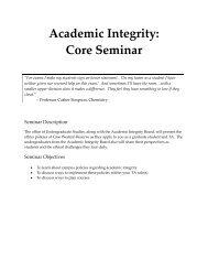 Academic Integrity - Student Affairs - Case Western Reserve University