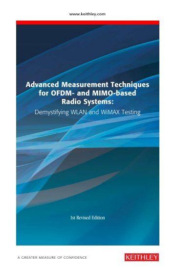 Advanced Measurement Techniques for OFDM - Keithley Instruments