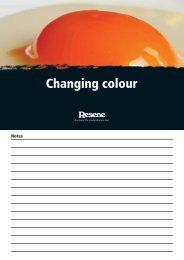 Changing colour - Resene