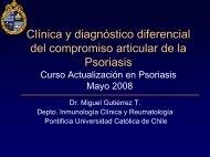 Clínica y Diagnóstico diferencial del compromiso articular de la ...