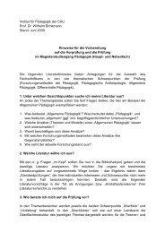 Institut für Pädagogik der CAU Prof. Dr. Wilhelm Brinkmann Stand ...