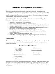 Mosquito Management Procedures - Lake County