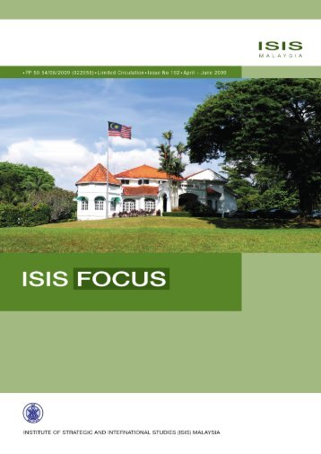 Apr - June 2009 - ISIS Malaysia