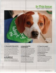 In This Issue - Lucky Dog Animal Rescue