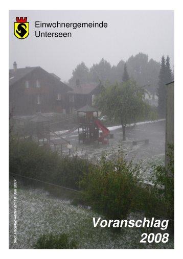 Voranschlag 2008 - Unterseen