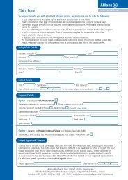 7188 Allianz Claim form