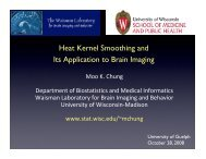 Heat Kernel Smoothing and Its Application to Brain Imaging