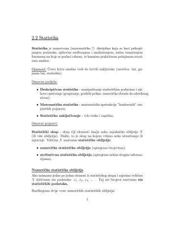 2.2 Statistika - FESB