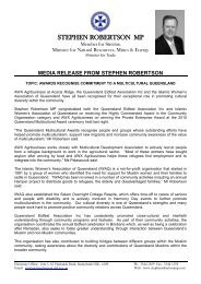 STEPHEN ROBERTSON MP - Crescents of Brisbane