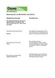 Metamorphose von Marienkäfer oder Admiral ... - BUND Konstanz