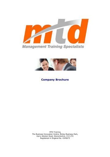 Company Brochure - Management Training