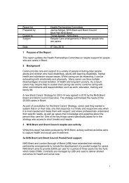 101216 - Respite Care , item 8. PDF 66 KB - Brent Council