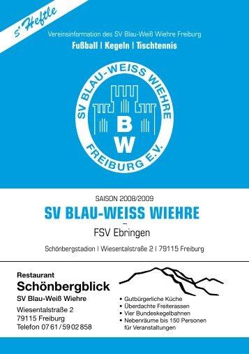 09.11.2008 SV Blau-Weiss Wiehre gegen FSV Ebringen 1
