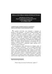 sulla cultura e sugli intellettuali - Centro Studi Ettore Luccini