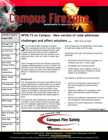 NFPA 72 on Campus – New version of code addresses challenges ...
