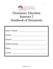 Student Teacher Handbook Semester 2 (July 2012) - College of ...