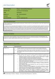 Job Description - New Zealand Cricket