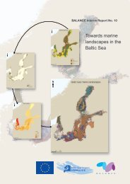 Towards marine landscapes in the Baltic Sea - BALANCE