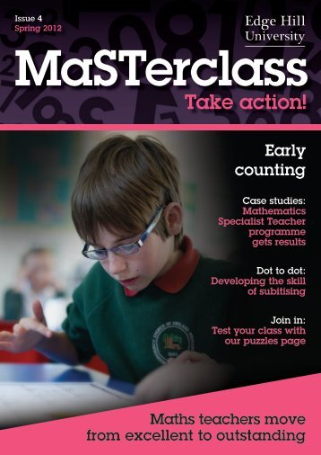 Masterclass: Take Action Issue 4 - Staffordshire Learning Net