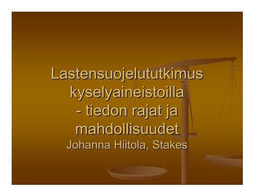 tiedon rajat ja mahdollisuudet - Tampereen yliopisto