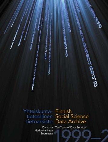 10-vuotisvuosikertomus verkossa - Yhteiskuntatieteellinen tietoarkisto