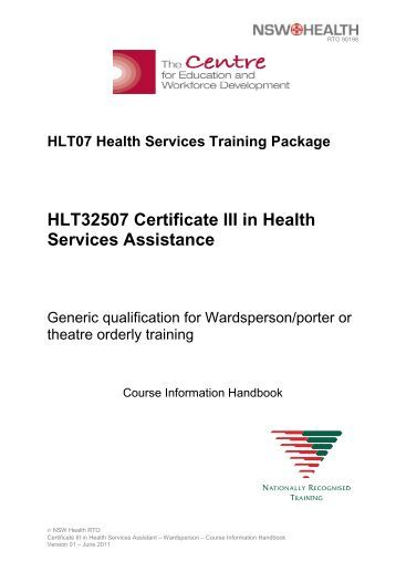 HLT32507 Certificate III in Health Services Assistance