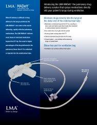 "Introducing the LMA MADettâ""¢ the pulmonary ... - LMA North America"