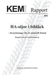 KemI Rapport 3/03 - Kemikalieinspektionen