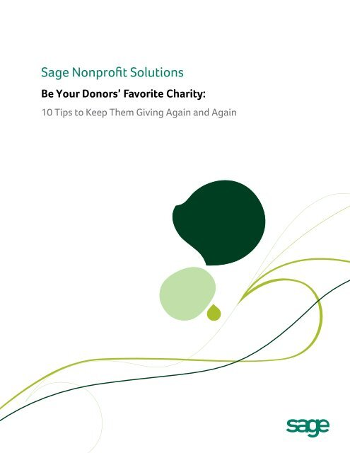 Be Your Donors' Favorite Charity - Nonprofit Fundraising ...