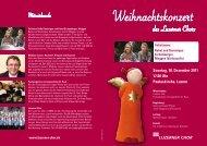 Weihnachtskonzert Luzerner Chor Sonntag, 18. Dezember 2011 ...