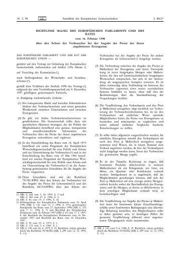 Preisangabe-Richtlinie