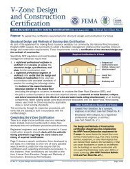 Fact Sheet No. 5, V-Zone Design and Construction Certification