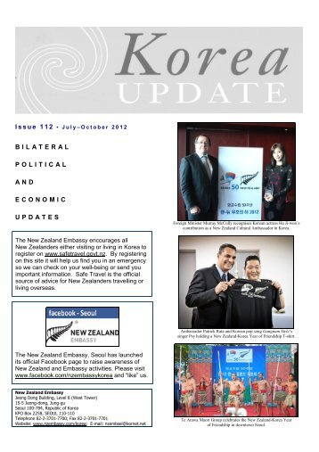 July - October - New Zealand Ministry of Foreign Affairs and Trade