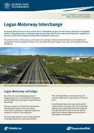 Logan Motorway Interchange factsheet - Queensland Rail