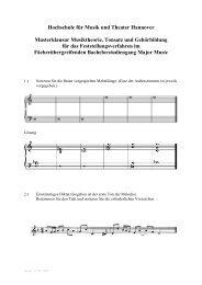 Hochschule für Musik und Theater Hannover Musterklausur ...
