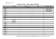 Årskalender HTX – Sukkertoppen 2010/2011