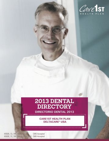 2013 DENTAL DIRECTORY - Care1st Health Plan