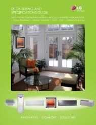 ENGiNEERiNG AND SPECiFiCATiONS GUiDE - LG HVAC Duct ...