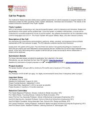 Call for Projects - Institute for Media Innovation