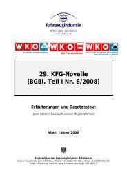 29. KFG-Novelle (BGBl. Teil I Nr. 6/2008)