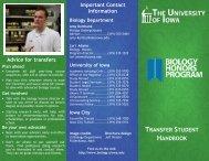 TRANSFER STUDENT HANDBOOK Advice for transfers Plan ahead