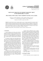 equivalent dose rate of ionizing radiation above water reservoirs in ...