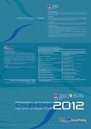 Calendar - Institute of Leadership & Quality Management - UiTM