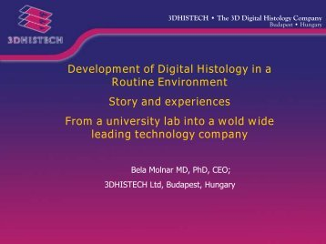 3DHISTECH • The 3D Digital Histology Company