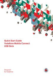 Vodafone Mobile Connect USB Modem Quick Start Guide - Dolcetto