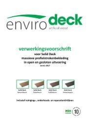 Envirodeck verwerkingsvoorschriften Solid Deck