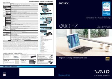 VAIO FZ - Sony
